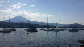 Lucerne sjö Royaltyfria Bilder
