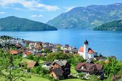 Lucerne sjö, Schweiz arkivfoto