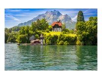 Lucerne sjö Schweiz Arkivbild