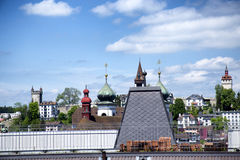 Lucerne. A suggestive view of the roofs of Lucerne Royalty Free Stock Photography