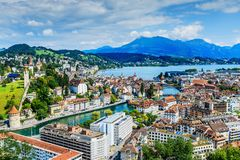 lucerne switzerland Royaltyfri Bild