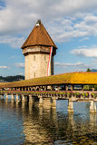 LUCERNE, SWITZERLAND - AUGUST 2: Views of the famous bridge Kape Royalty Free Stock Photography