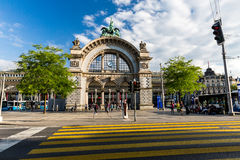 LUCERNE, SWITZERLAND - AUGUST 2: Views of the famous old railway Stock Photography