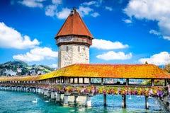 Lucerne, Switzerland - Chapel Bridge Stock Photo