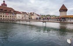 Lucerne, Switzerland, Chapel Bridge Stock Images