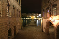 Lucerne, Switzerland, City View At Night Royalty Free Stock Photo
