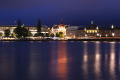 Lucerne, Switzerland, city view at night Royalty Free Stock Photos