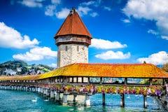 Lucerne, Switzerland - Chapel Bridge Royalty Free Stock Image