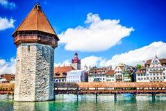 Lucerne, Switzerland - Chapel Bridge Stock Photos