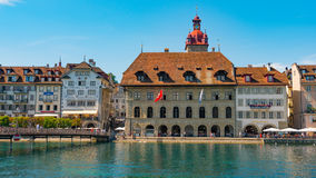 LUCERNE, SWITZERLAND - JULY 04, 2017: View of historic Lucerne city center, Switzerland. Lucerne is the capital of the Royalty Free Stock Photography