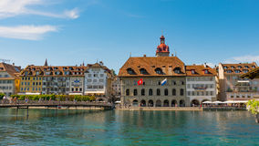 LUCERNE, SWITZERLAND - JULY 04, 2017: View of historic Lucerne city center, Switzerland. Lucerne is the capital of the Royalty Free Stock Image