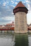Lucerne, Switzerland, Kapellbrücke and Wasserturm Royalty Free Stock Photo