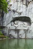 Lion of Lucerne, a rock relief in Lucerne Royalty Free Stock Images