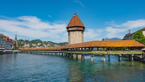LUCERNE, SWITZERLAND: View of historic Lucerne city center, Switzerland. Lucerne is the capital of the canton of Lucerne Royalty Free Stock Images