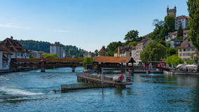 LUCERNE, SWITZERLAND: View of historic Lucerne city center, Switzerland. Lucerne is the capital of the canton of Lucerne Royalty Free Stock Photography