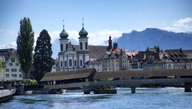 Lucerne. View of the ancient city Royalty Free Stock Image