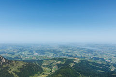Lucerne view from mountain Pilatus, Switzerland with copy space Royalty Free Stock Images