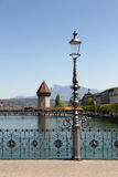 Lucerne with water tower and chapel bridge Stock Photo