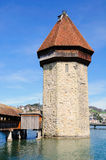 Lucerne water tower. Royalty Free Stock Photo