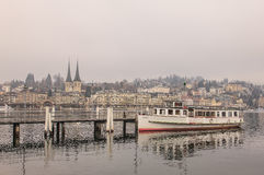 Lucerne in winter Stock Photography