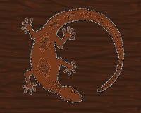 Lucertola del geco di Brown Fotografie Stock Libere da Diritti