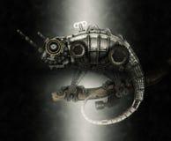 Lucertola di stile di Steampunk Fotografie Stock Libere da Diritti