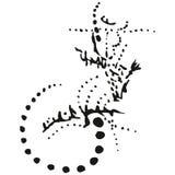 Lucertola stilizzata astratta di B&W Fotografie Stock