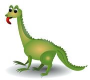 Lucertola verde allegra con la linguetta lunga Immagine Stock