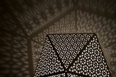 Luces árabes con las sombras Fotos de archivo
