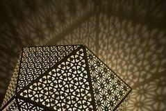 Luces árabes con las sombras Foto de archivo