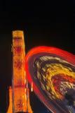 Luces abstractas de la rueda de Ferris Imagen de archivo libre de regalías