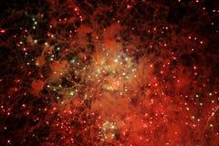 Luces abstractas de los fuegos artificiales Imágenes de archivo libres de regalías