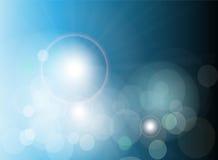 Luces abstractas del azul del fondo del vector