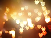 Luces abstractas del bokeh de los corazones fotografía de archivo libre de regalías