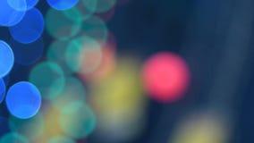 Luces abstractas del centelleo almacen de video