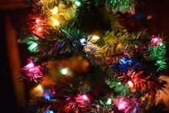 Luces abstractas del día de fiesta de las luces de la Navidad Imágenes de archivo libres de regalías