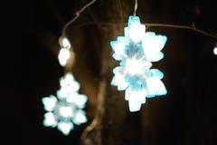 Luces abstractas del día de fiesta de las luces de la Navidad Imagenes de archivo
