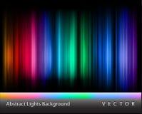 Luces abstractas del vector Imágenes de archivo libres de regalías