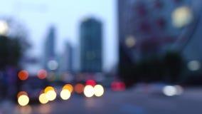 Luces abstractas en la calle metrajes
