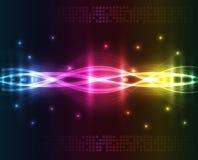 Luces abstractas - fondo coloreado Fotografía de archivo libre de regalías