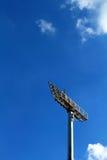 Luces altas del estadio con el cielo Fotografía de archivo libre de regalías