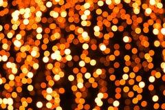 Luces anaranjadas abstractas Imagen de archivo libre de regalías