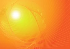 Luces anaranjadas del fondo abstracto del vector Foto de archivo libre de regalías