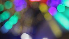 Luces animadas del bokeh almacen de video