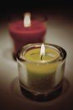Luces ardientes del té Foto de archivo