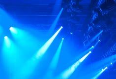 Luces azules Imagen de archivo libre de regalías