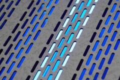 Luces azules Fotografía de archivo