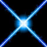 Luces azules de neón del laser stock de ilustración