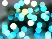Luces azules del bokeh Imagen de archivo