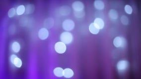 Luces azules fuera del extracto del foco, celebración, fondo, almacen de video